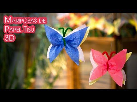 Mariposas de Papel Tisu 3D para Decoracion y Guirnaldas - UCQpwDEZenMK6rzhLqCZXRhw