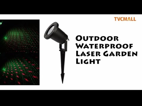 TVC - Waterproof 8 Patterns Laser Outdoor Projector Light Laser Christmas Lights with Remote Control