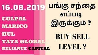 பங்கு சந்தை எப்படி இருக்கும் ?Colpal|marico|hul|tata global|reliance capital-BUY|SELL LEVEL ?|TTZ