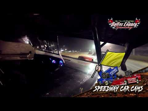 #-7 Kynsey Collins - Midwest Mod - 7-2-2021 Dallas County Speedway - In Car Camera - dirt track racing video image