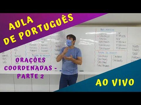 AULA AO VIVO - Orações Coordenadas - parte 2