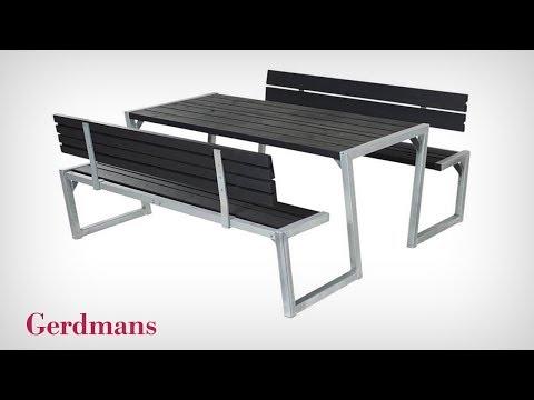 Bänkbord Zigma Med Ryggstöd | Monteringsinstruktion | Gerdmans