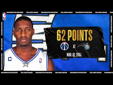 Wizards @ Magic: Tracy McGrady explodes for career-high 62 PTS on March 10, 2004 #NBATogetherLive