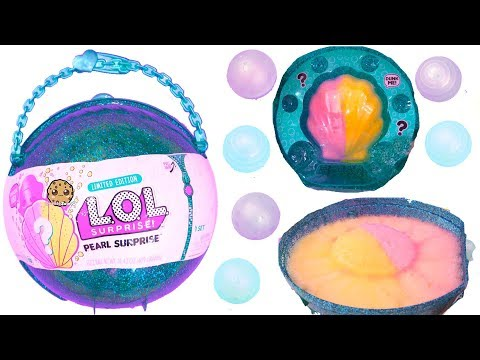 LOL Pearl Surprise Blind Bag Ball with Fizz Shell In Water - Toy Video - UCelMeixAOTs2OQAAi9wU8-g
