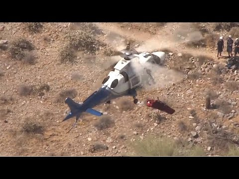 Stretcher Spins Wildly Out of Control in Helicopter Rescue
