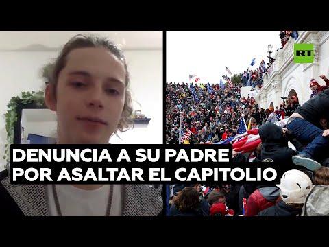 Abandona su casa tras denunciar a su padre por participar en el asalto al Capitolio