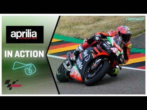 Aprilia in action: HJC Helmets Motorrad Grand Prix Deutschland