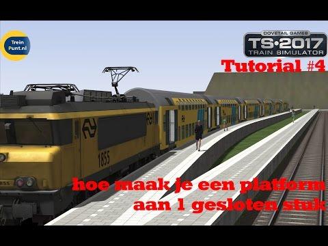Tutorial #4: hoe maak je een platform aan 1 gelosten stuk | Train Simulator 2017
