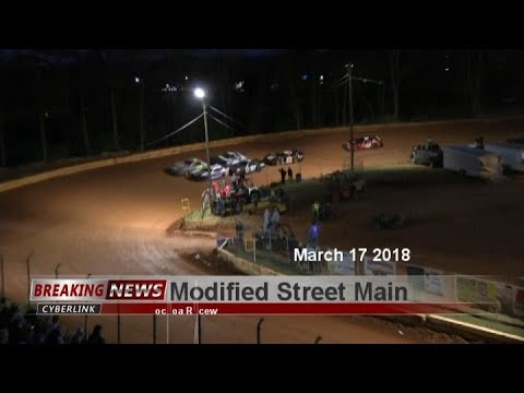 Modified Street @ Toccoa March 17th 2018 - dirt track racing video image