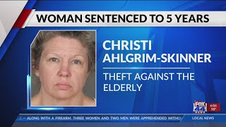 Woman sentenced for stealing from elderly victim who had tried to help her