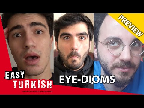 """21 Turkish idioms and proverbs with the word """"eye"""" (PREVIEW)   Super Easy Turkish 5 photo"""