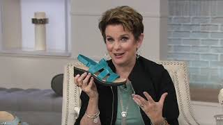 Clarks Collection Leather Cut-Out Sandals - Lexi Qwin on QVC