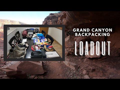 Grand Canyon Backpacking Loadout