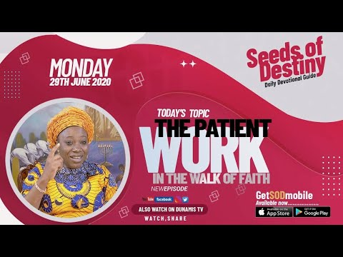 Dr Becky Paul-Enenche - SEEDS OF DESTINY  MONDAY JUNE 29, 2020