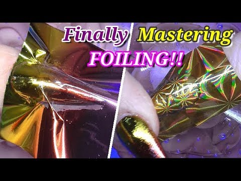 CAN I FINALLY CRACK NAIL FOILING ON GLITTER NAILS?! | ABSOLUTE NAILS