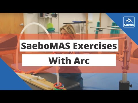 SaeboMAS Exercise - Sitting Shoulder Horizontal Abduction and Adduction with Arc