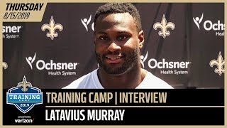 Latavius Murray from Day 1 of Saints-Chargers Joint Training Camp Practice | New Orleans Saints
