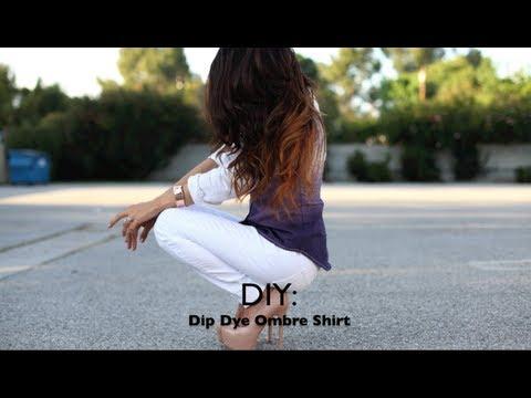 DIY: Dip Dye Ombre Shirt - UCo5zIpjl2OQkYatd8R0bDaw