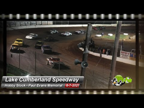 Lake Cumberland Speedway - Hobby Stock Feature - 8/7/2021 - dirt track racing video image