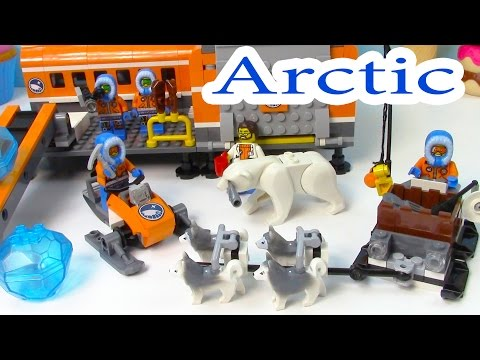 Arctic Base Camp Playset Lego City Snow Ice Crystals Polar Bear Husky Dogs Sled Cookieswirlc - UCelMeixAOTs2OQAAi9wU8-g