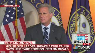 House GOP Leader Admits He Would Send Foreign Election Interference To The FBI