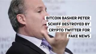 Bitcoin Basher Peter Schiff Destroyed by Crypto Twitter for Fake News