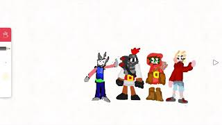 4 characters in  FlipaClip that are redesigned