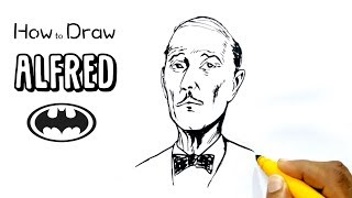 How to Draw Alfred from Batman (narrated)