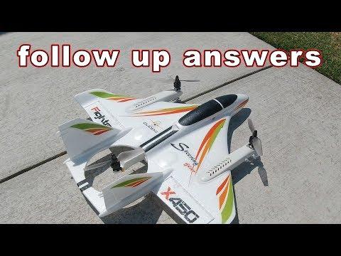 XK X450 VTOL Airplane Drone Follow Up 🚁✈️ - UCnJyFn_66GMfAbz1AW9MqbQ