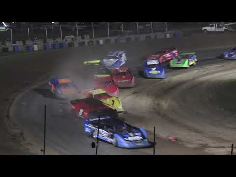 Late Model A-Feature at Crystal Motor Speedway, Michigan on 07-03-2021!! - dirt track racing video image