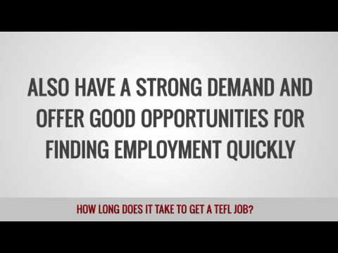 How Long does it Take to Get a TEFL Job?