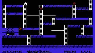 Lode Runner 1983BroderbundNTSC PAL6000A000 HYPERSPIN VIC 20 VIC20 COMMODORE NOT MINE VIDEOSmultipart