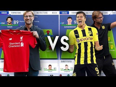 Jurgen Klopp's Liverpool VS Jurgen Klopp's Borussia Dortmund - FIFA 19 Experiment