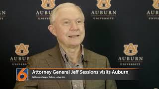 US Attorney General Jeff Sessions visits Auburn University