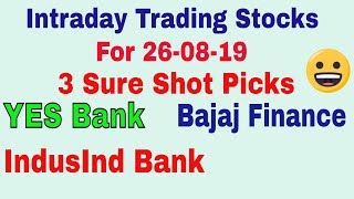 Intraday Trading Stock tips for tomorrow # Strong level in hindi with Strategy || 26-08-2019 ||TT