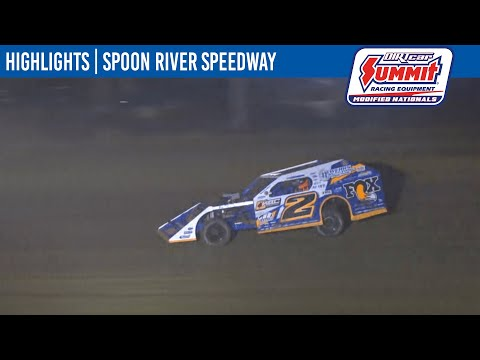 DIRTcar Summit Modifieds Spoon River Speedway July 7, 2021 | HIGHLIGHTS - dirt track racing video image