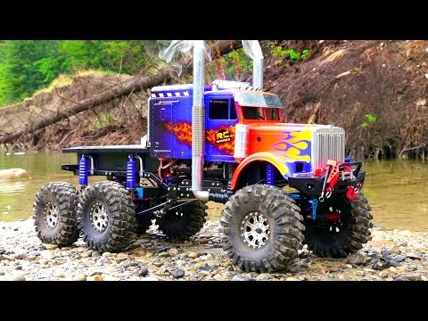 RC ADVENTURES - OPTiMUS OVERKiLL - ROCK WATER RECON - 6x6x6 Semi Truck - UCxcjVHL-2o3D6Q9esu05a1Q