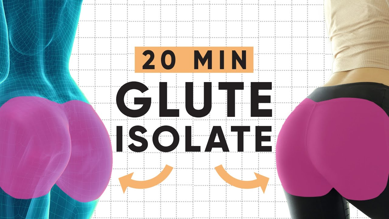 20 Minute Natural Glute Enhancing Isolate Workout | At-home butt lifting exercises!