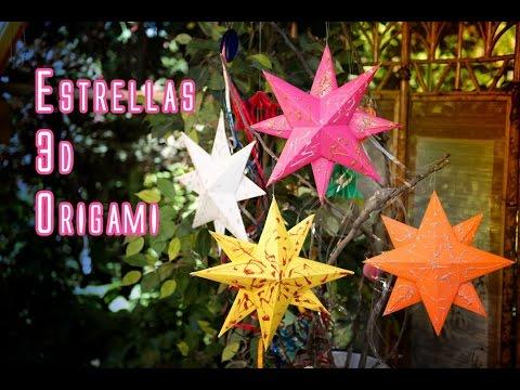 Colgante Adorno Estrella 3D Origami Facil - UCQpwDEZenMK6rzhLqCZXRhw