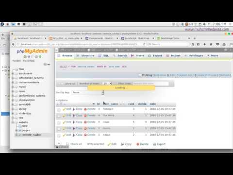 20   PHP & MySQL CMS CRUD create menu form