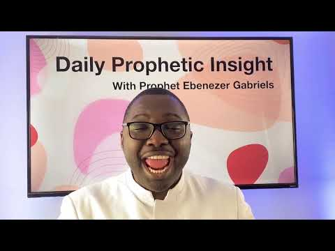 Prophetic Insights - January 5, 2021