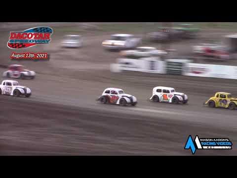 Dacotah Speedway INEX Legends A-Main (8/13/21) - dirt track racing video image
