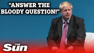 'Answer the bloody question!' Boris Johnson heckled over US ambassador stance