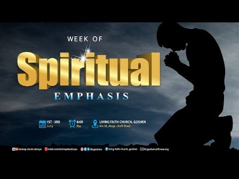 WEEK OF SPIRITUAL EMPHASIS (DAY 1) SEPTEMBER 02, 2020