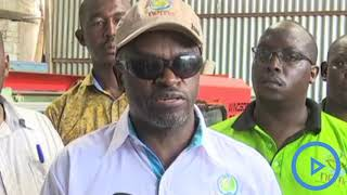 NEMA Officers close a factory in Mombasa for  operating under the requisite environmental standards