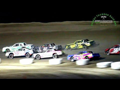 Desert Thunder Raceway IMCA Stock Car Main Event 7/24/21 - dirt track racing video image