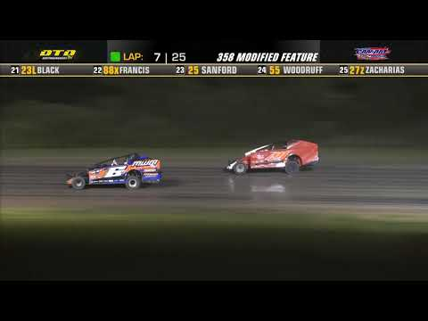 Can-Am Speedway   DIRTcar 358-Modified Feature Highlights   7/30/21 - dirt track racing video image