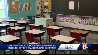 Maine school district considers hiring retired teachers to fill shortage