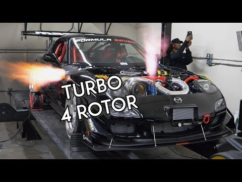 Turbo 4 Rotor RX-7 SCREAMS on the Dyno   Mazzei Formula - UChg9P8du8Ykqy6MbMK5jpzQ