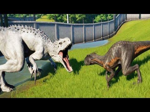 INDORAPTOR Vs INDOMINUS REX - Jurassic World Evolution - default